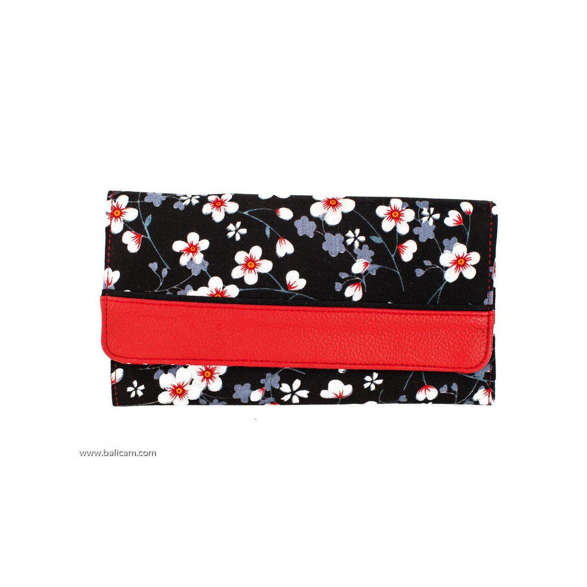 portefeuille-compagnon-tout-en-un-original-noir-et-rouge-et-fleurs