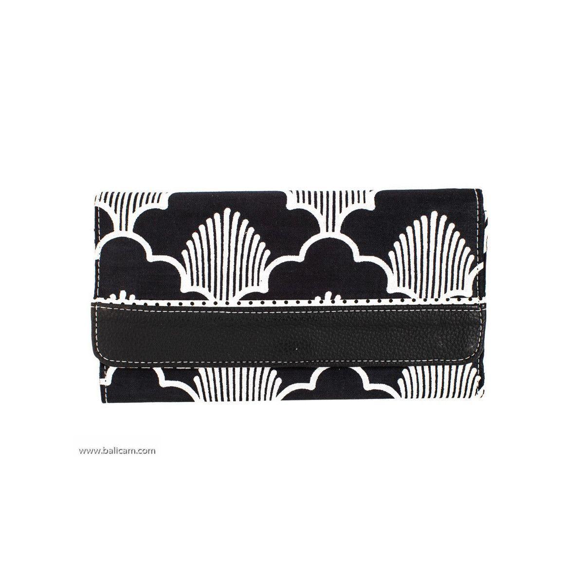 Portefeuille compagnon tout-en-un original noir et blanc