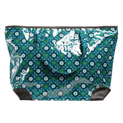 Grand sac cabas étanche tissu bleu et noir