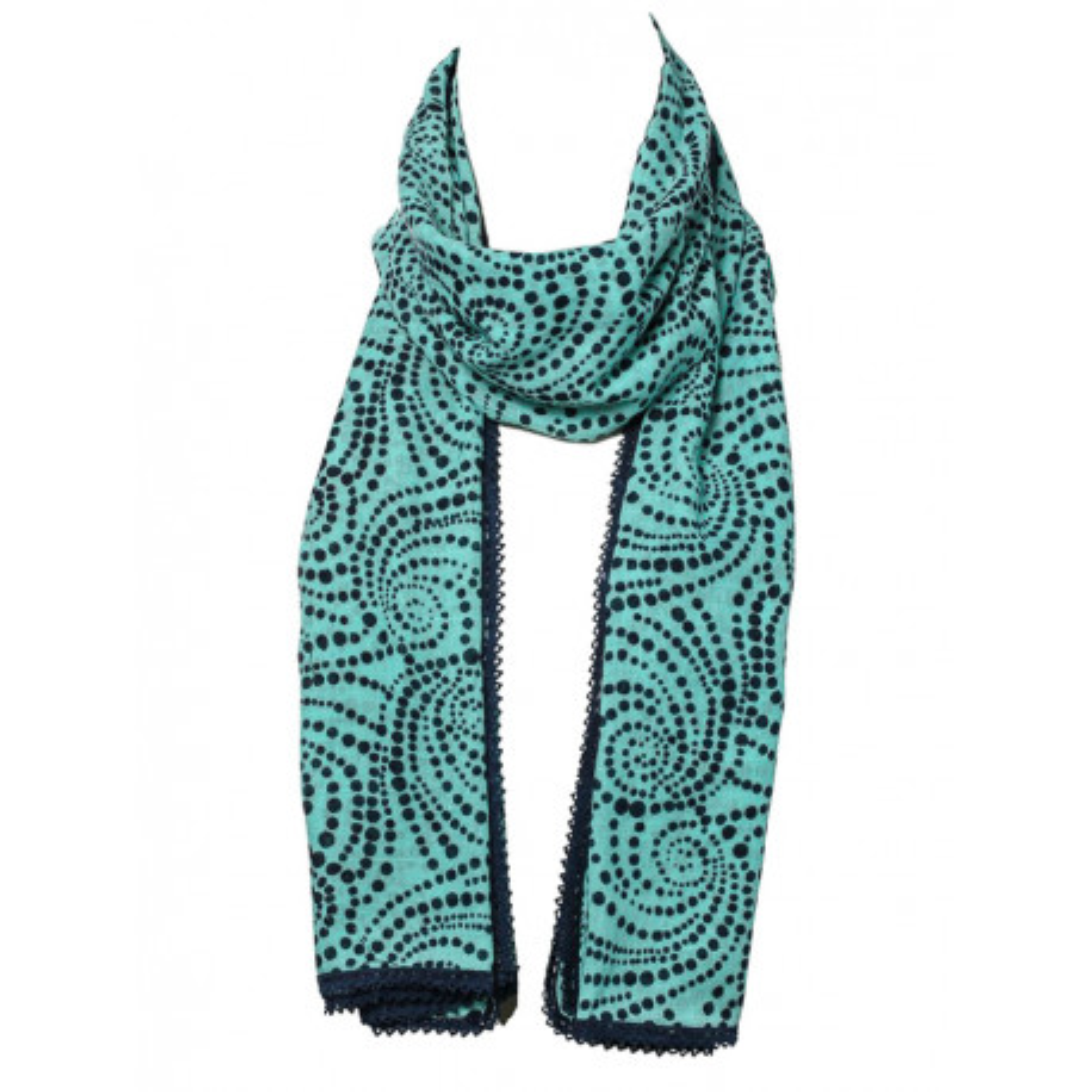 Chèche foulard femme coton vert