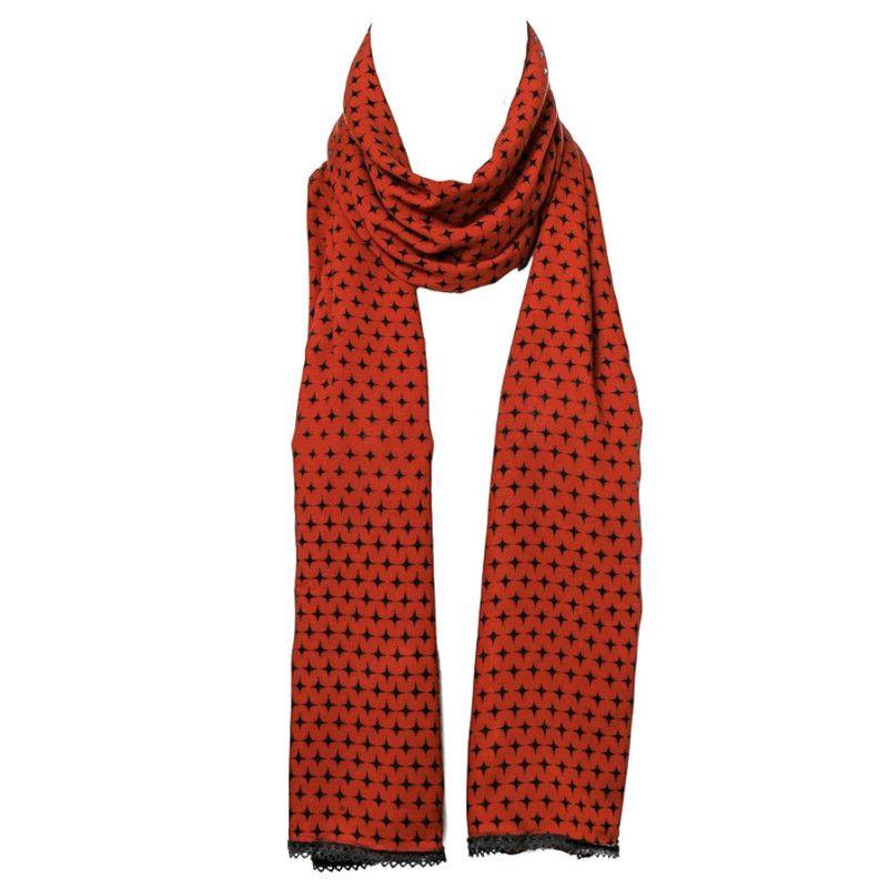 popular stores great quality buy Chèche foulard femme coton marron ocre et noir