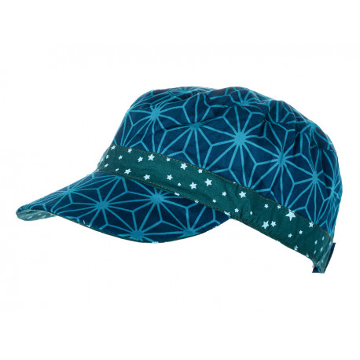 Casquette en coton original et réversible pour enfant 1-8 ans bleu et étoiles