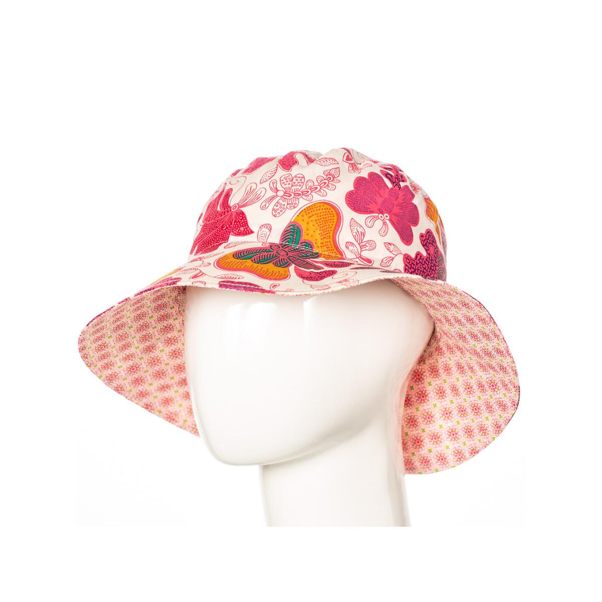 Chapeau coton réversible enfant 1-8 ans papillons roses