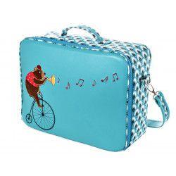 valise-originale-de-voyage-bébé-enfant-bleue-turquoise-et-ours
