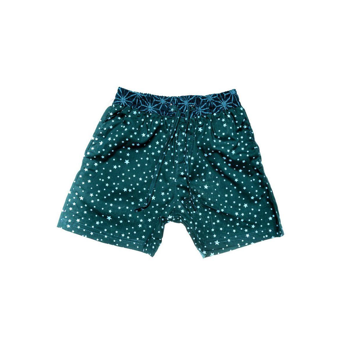 Short de bain coton enfant 2-8 ans bleu nuit étoiles