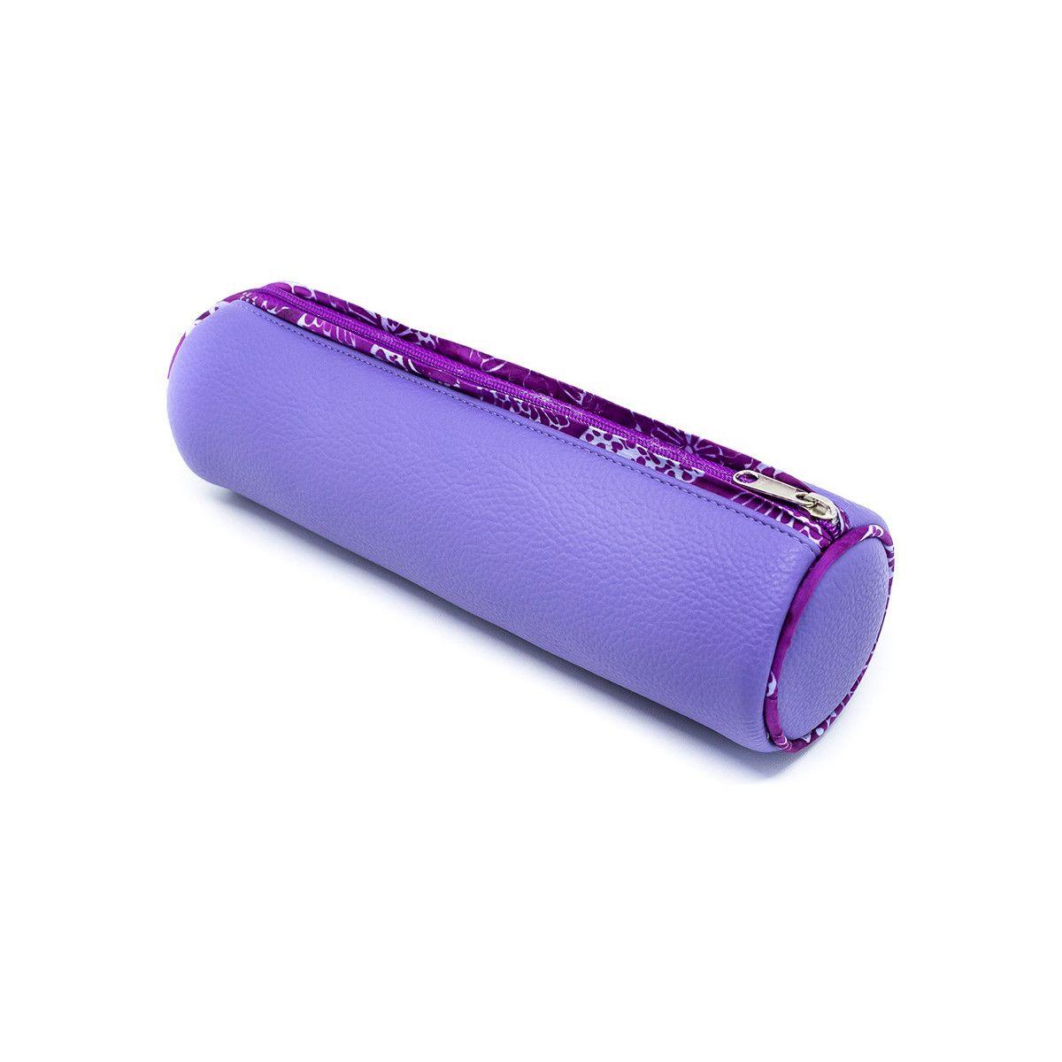 trousse ronde école enfant violet mauve