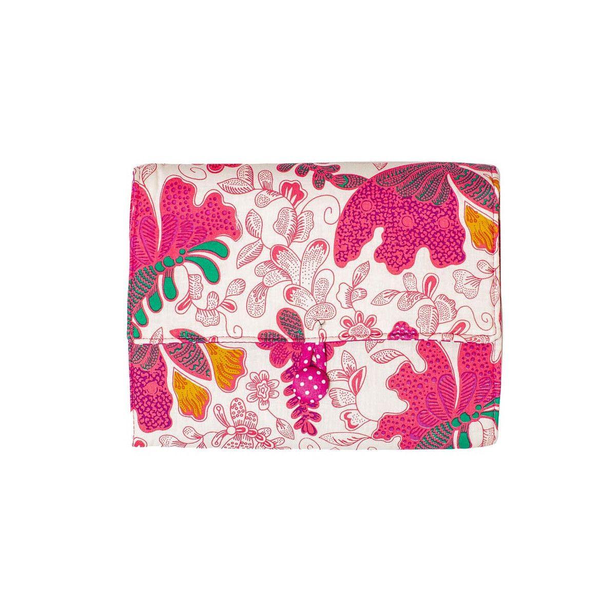 Pochette à dessin de voyage papillons roses