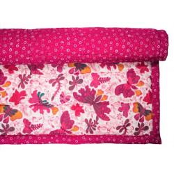 Tapis d'éveil, de jeux bébé coton papillons roses