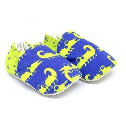 Chaussons bébé souples Crocos