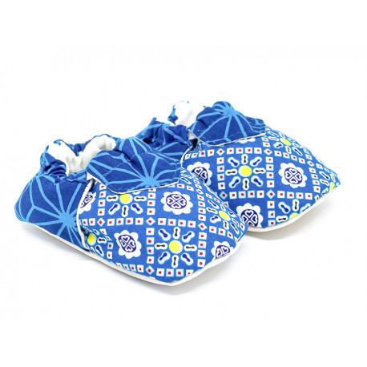 Chaussons bébé souples bleu