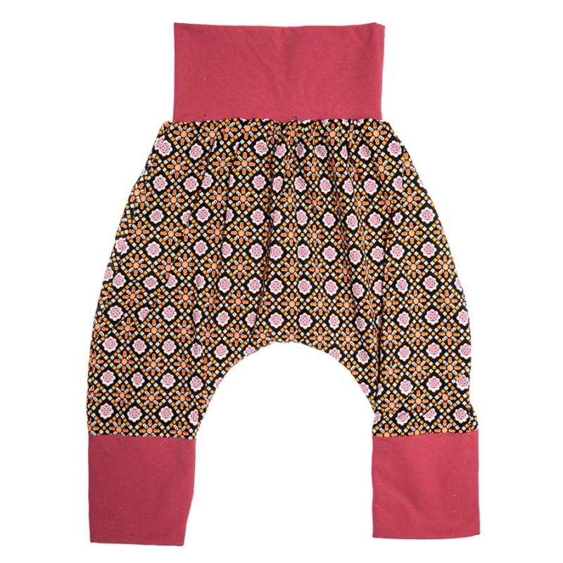 0ff4a24317c47 Pantalon sarouel doublé bébé 6-24 mois orange et noir. Loading zoom
