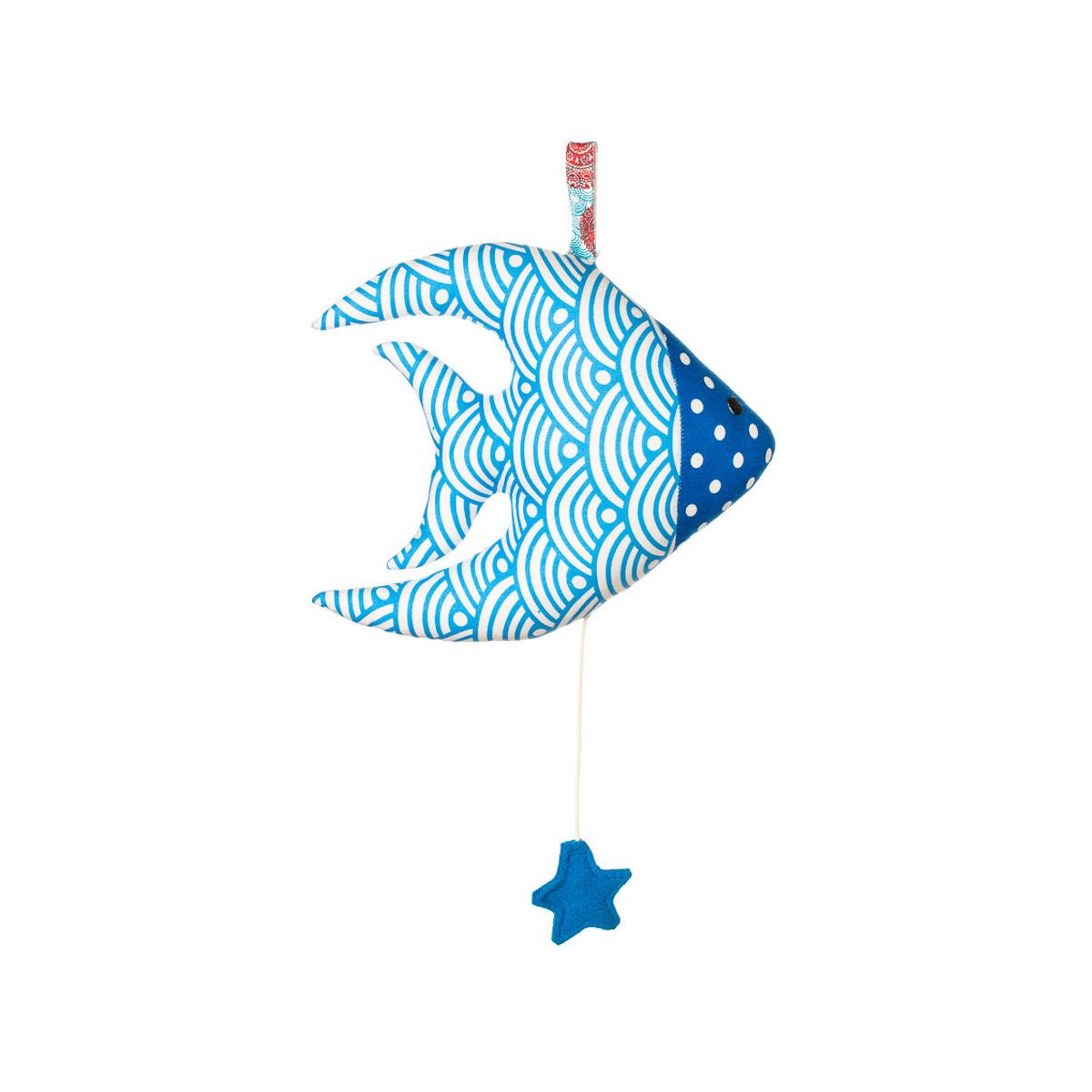 Boîte à musique coton poisson bleu