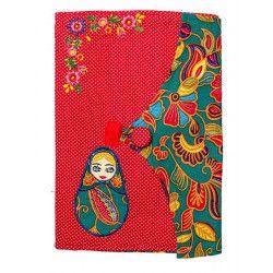 Protège carnet de santé bébé enfant rouge poupée russe