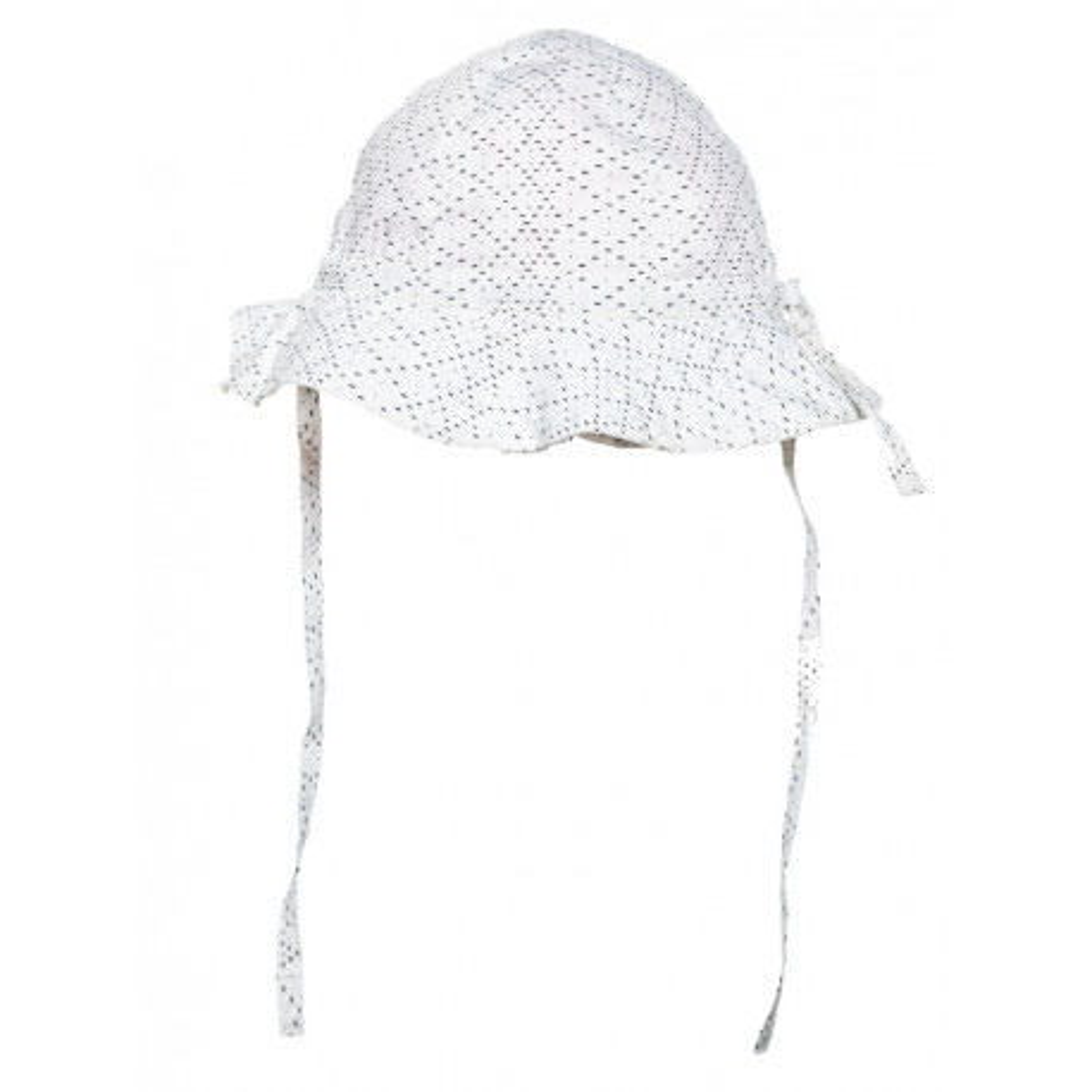 Chapeau de soleil bébé coton réglable blanc à motifs