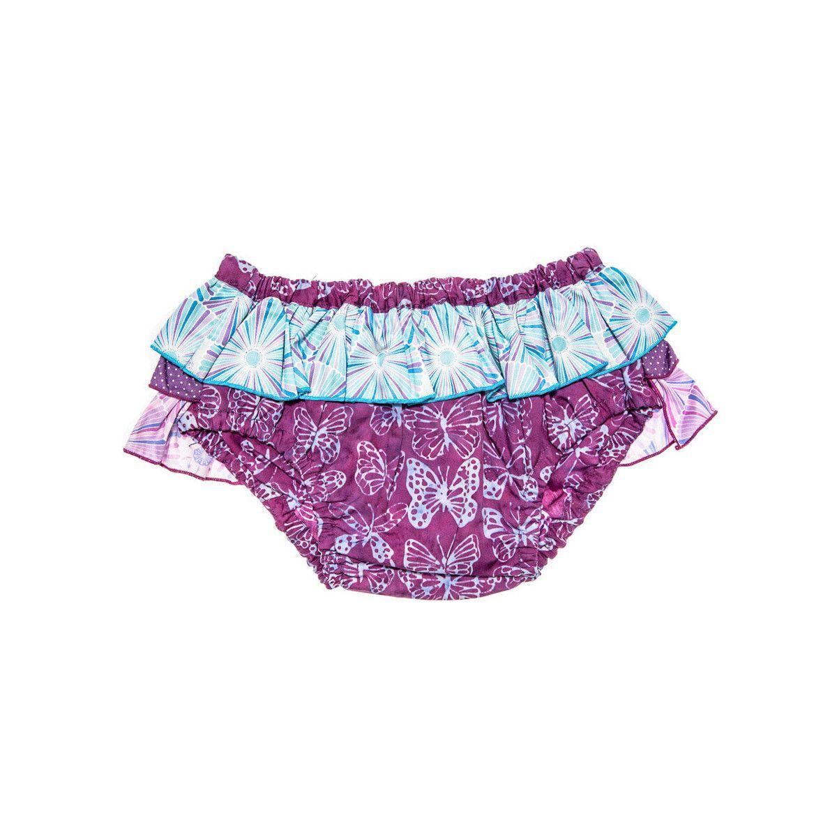 Bloomer culotte de bain bébé fille 6-24 mois violet mauve et papillons