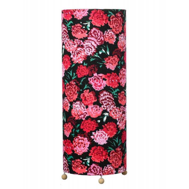 Lampe Noir Tube Fleurs À Roses Grande Poser ED9IY2WH