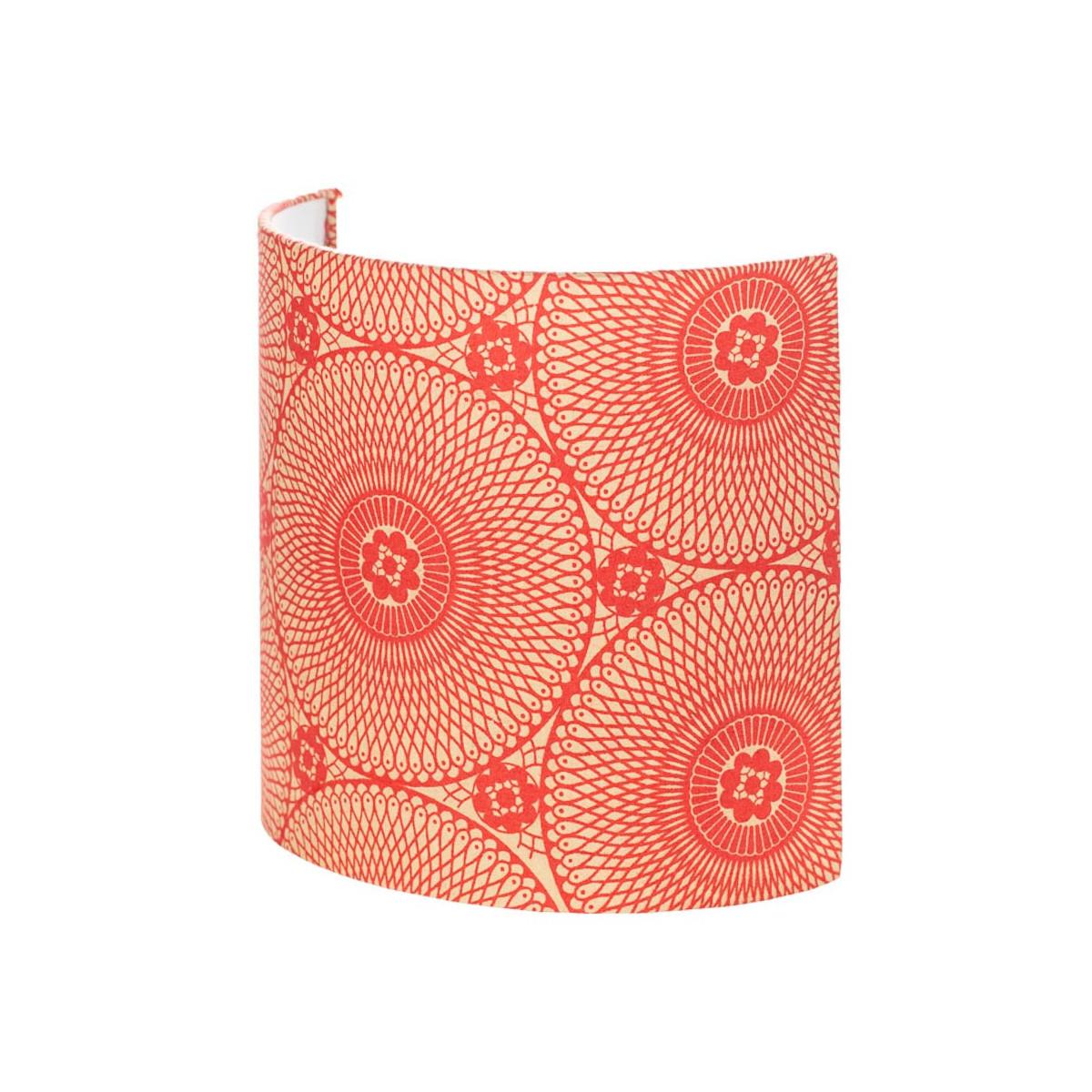 Applique murale demi-lune rouge carmin motif mandala