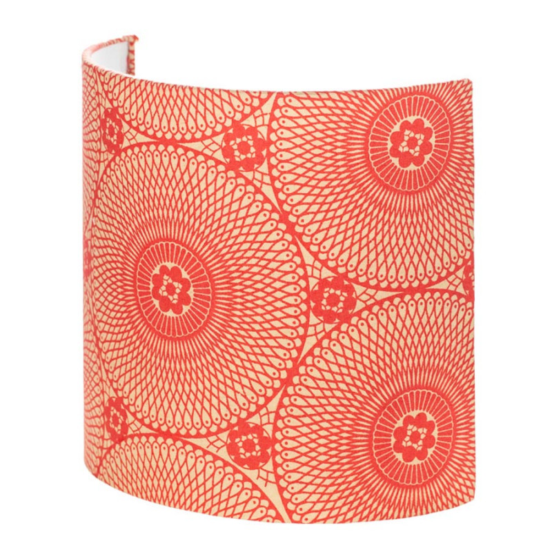 Demi Murale Rouge Lune Motif Applique Mandala Carmin 8Pwkn0O