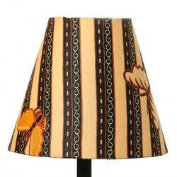 Petit abat-jour conique lampe jaune et noir avec papillons