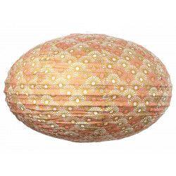 Lampion tissu boule japonaise ovale Solas gold