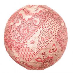 Lampion tissu boule japonaise rond Batik rouge