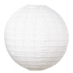 Lampion tissu boule japonaise rond Céleste