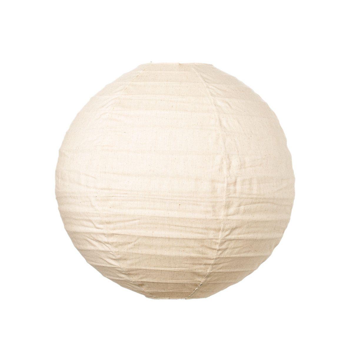 Lampion tissu boule japonaise rond beige