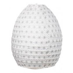 Lampion tissu boule japonaise ruche Asanoha silver