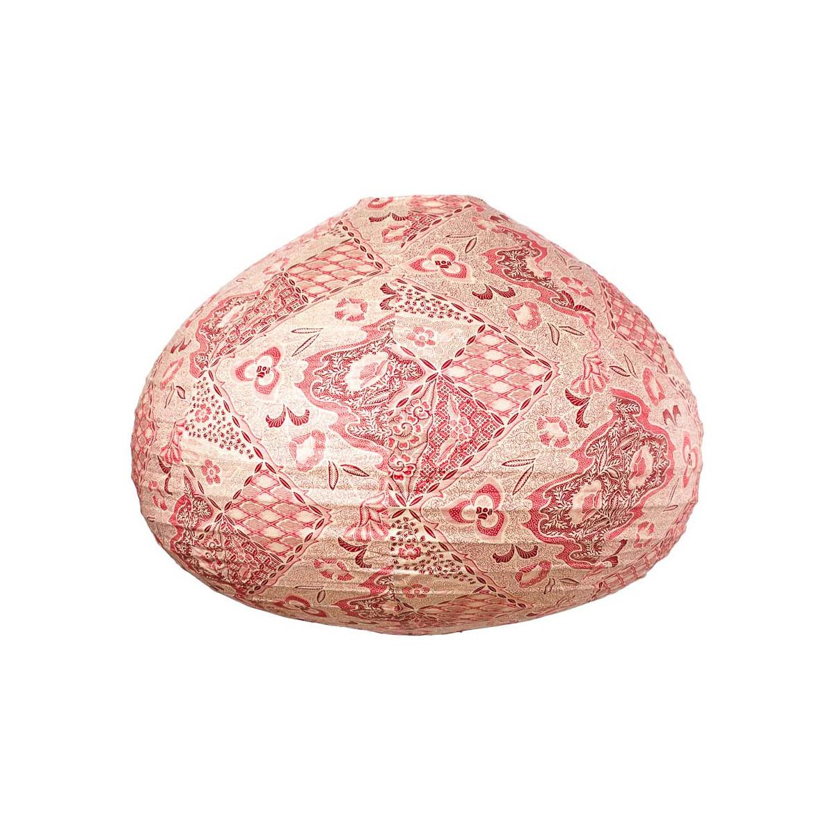 Lampion tissu boule japonaise goutte Batik rouge