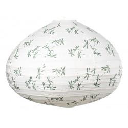 Lampion tissu boule japonaise goutte libellule vert