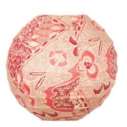 Lampion tissu boule japonaise mini Batik rouge