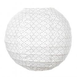 Lampion tissu boule japonaise mini Céleste
