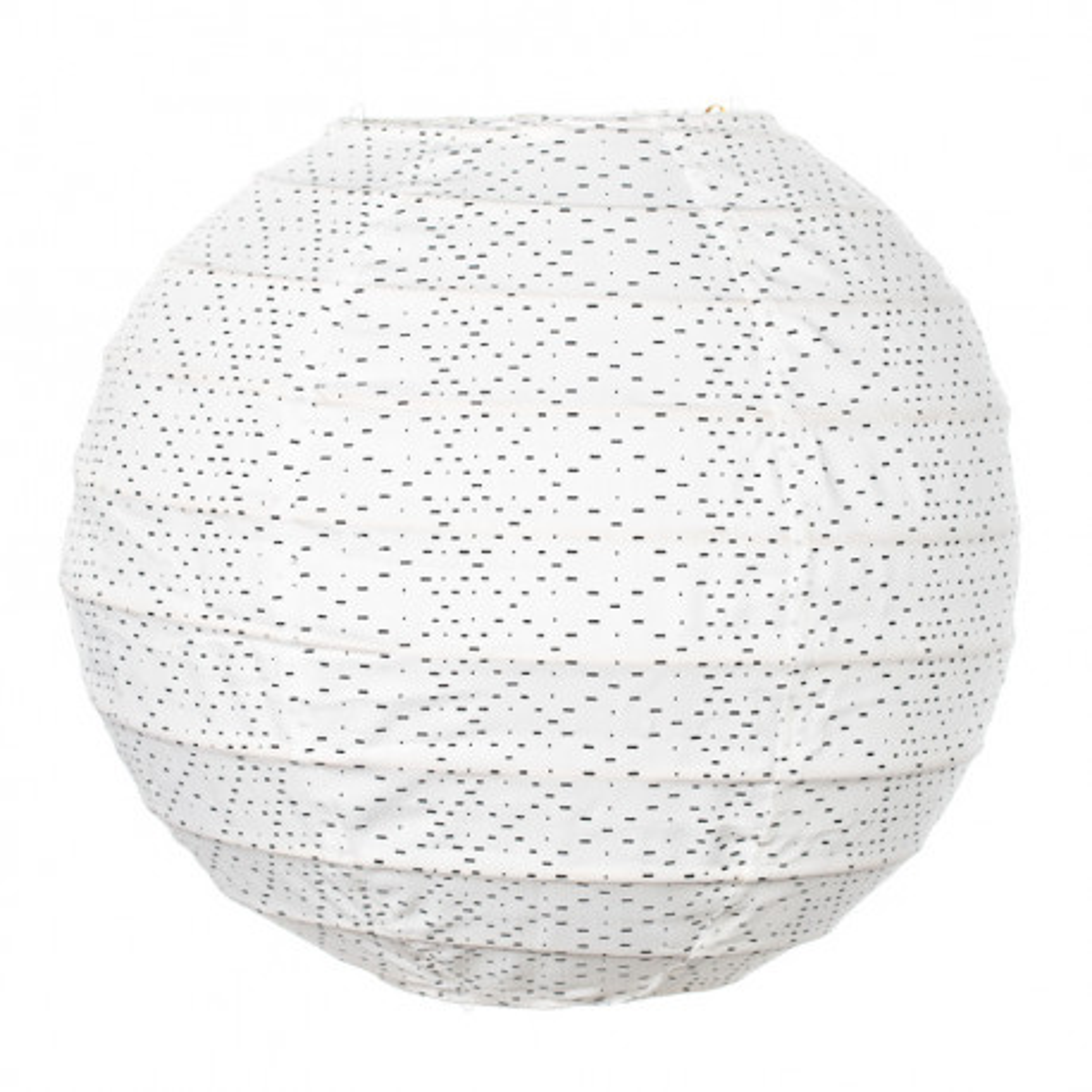 Lampion tissu boule japonaise mini blanc à petits points