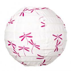 Lampion tissu boule japonaise mini Dragonfly pink