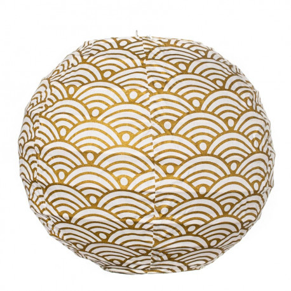 Lampion tissu boule japonaise mini rond nami or