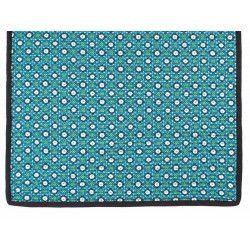 Tapis décoration intérieure coton bleu et noir