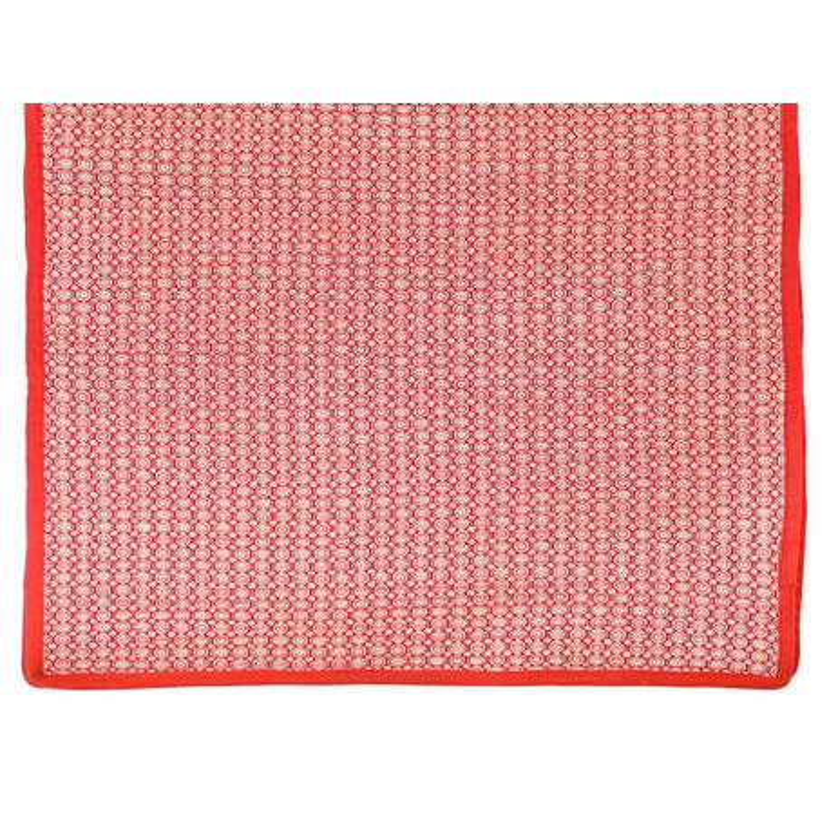 Tapis décoration intérieure coton rouge avec motifs
