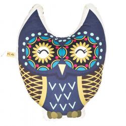 Coussin Hibou bleu