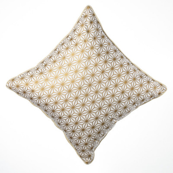 Coussin carré Asanoha or