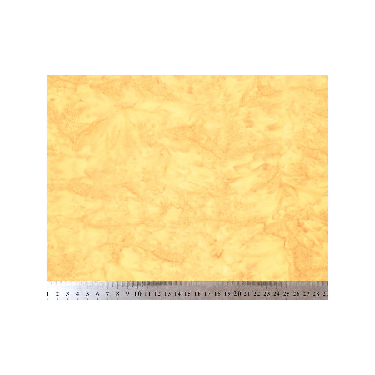 Tissu coton batik jaune safran