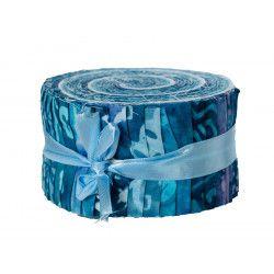 Jelly roll tissu bleu
