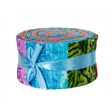 Jelly roll tissu multicolore