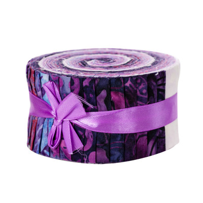 Jelly roll Bali roll batik prune