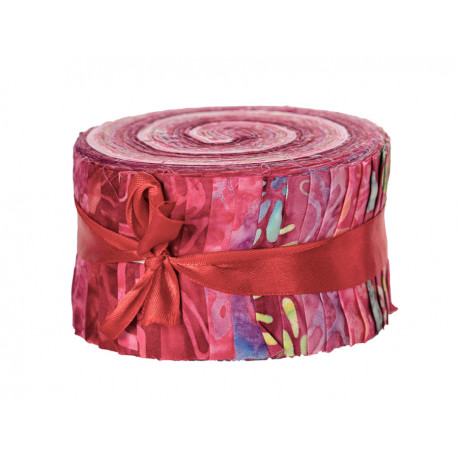 Jelly roll Bali roll batik rose