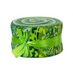 Jelly roll Bali roll batik vert