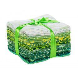 lot-de-vingt-batik-fat-quarters-vert