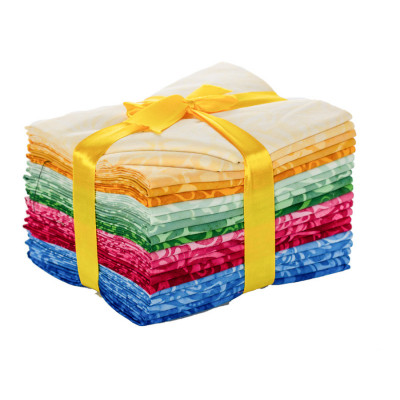Lot de vingt fat quarters multicolore