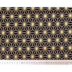 Tissu coton Asanoha gold