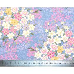 Tissu coton Iris Lilas