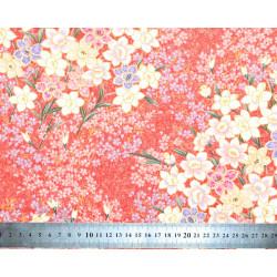 Tissu coton Iris Orange